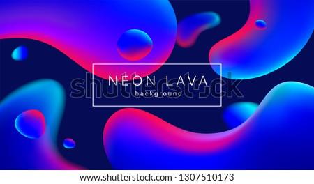 liquid neon lava lamp vector