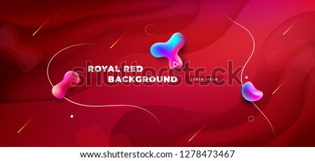 Liquid red color background design. Fluid red gradient shapes composition. Futuristic design posters. Eps10 vector.