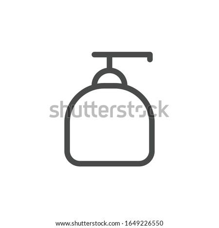 Liquid soap icon. Soap bottle symbol modern, simple, vector, icon for website design, mobile app, ui. Vector Illustration