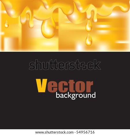 Liquid substance gold background