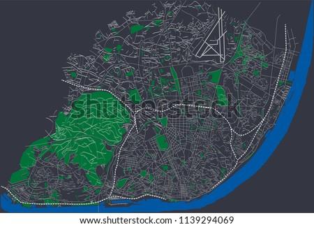 lisbon  portugal roads and