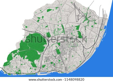 Portugal Map Background Vector - Download Free Vector Art, Stock ...