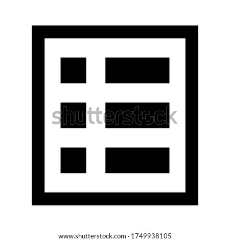 List alt icon vector isolated on white background.