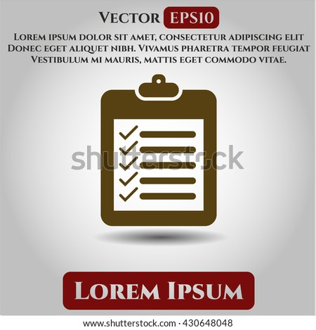 list icon vector symbol flat eps jpg app web concept website