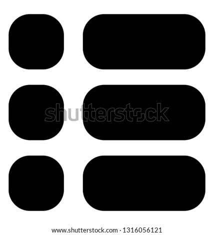List item glyph vector icon