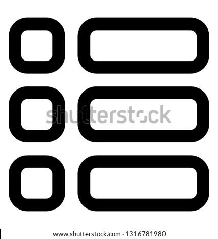 List item line vector icon