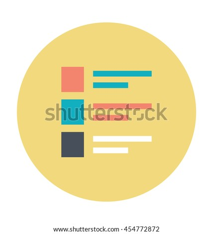 List Item Vector Icon