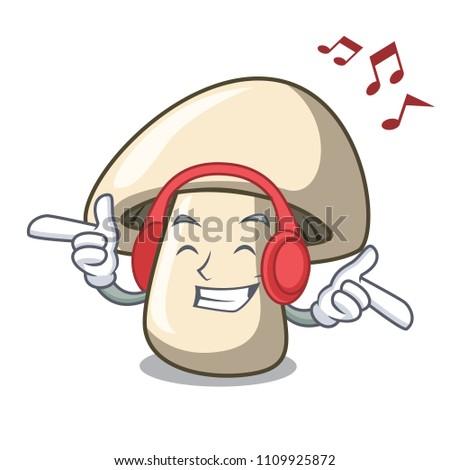 listening music champignon