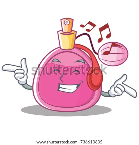 listening music perfume bottle