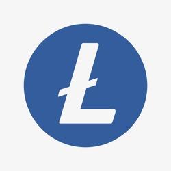 Litecoin symbol. Vector illustration. LTC logo. Cryptocurrency.