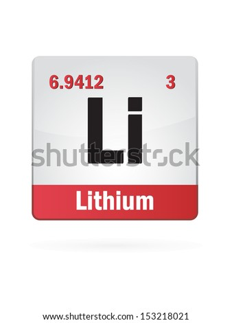 Lithium Symbol Illustration Icon On White Background