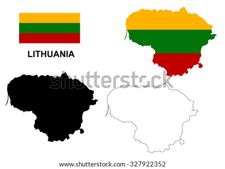 Free Lithuania Map Vector Download Free Vector Art Stock - Lithuania map