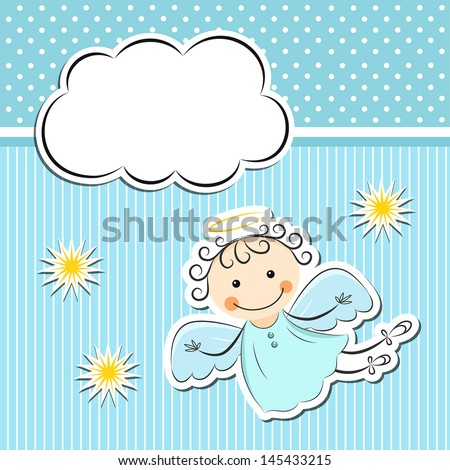 little angel with stars and
