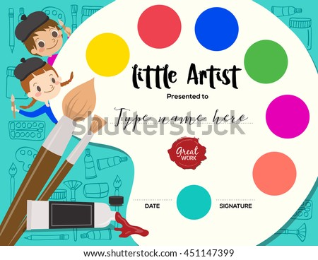 little artist  kids diploma