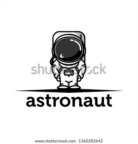 little astronaut logo design inspiration . astronaut logo template . baby astronaut . simple astronaut icon