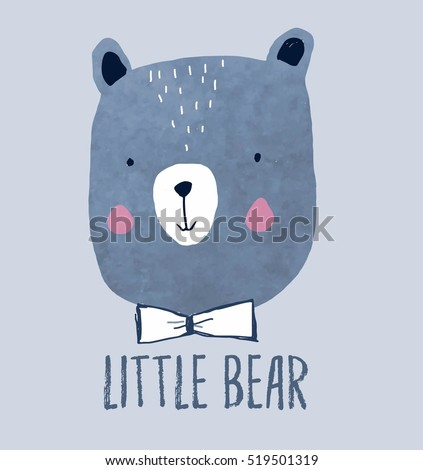 little bear head drawing for