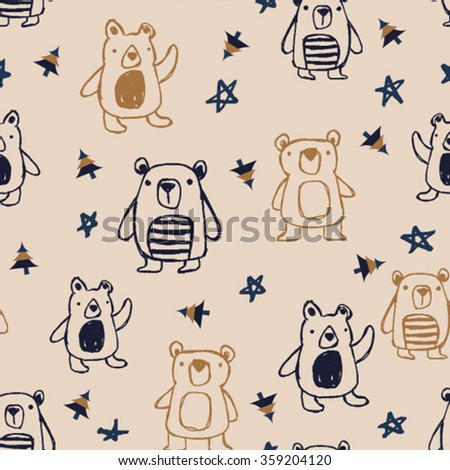 little bears pattern design