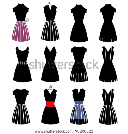 Little black dress Illustrations and Clip Art 2100