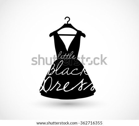 little black dress on a hanger