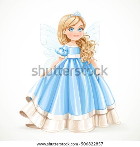 little blond princess girl in
