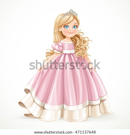 little blond princess girl in