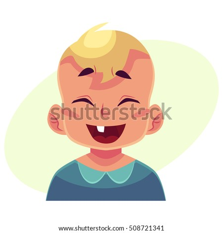 little boy face  laughing