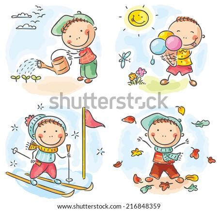 little boy's activities during