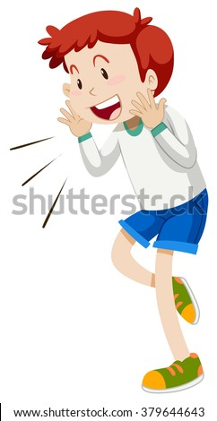 Little boy with smiling face illustration