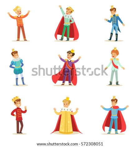 little boys in prince costume