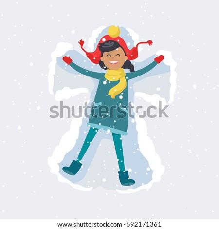 little brunette girl in red hat