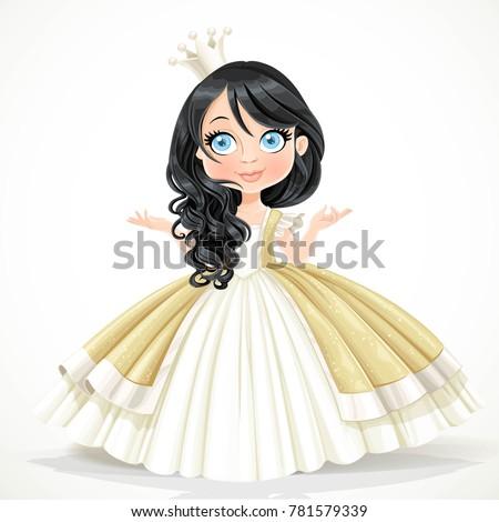 little brunette princess in