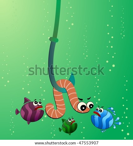funny fishing cartoon. little cartoon funny fish