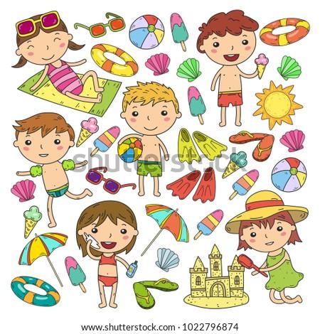 little children play summer