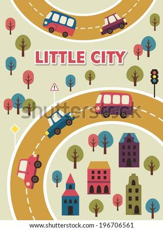 little city card design. vector illustration #196706561