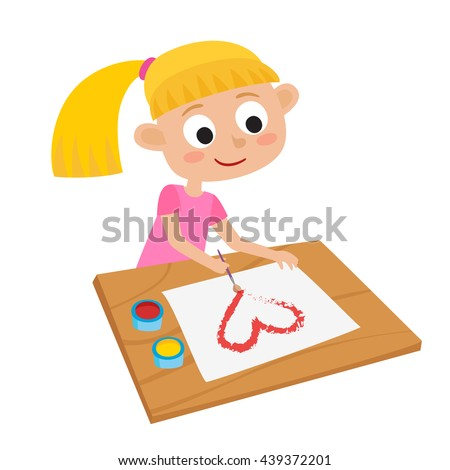 little cute artist vector