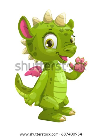 little cute cartoon green