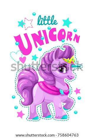 little cute cartoon unicorn