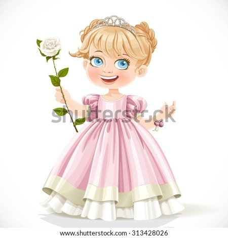 little cute princess in tiara