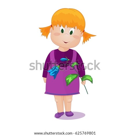 little cute red haired girl in