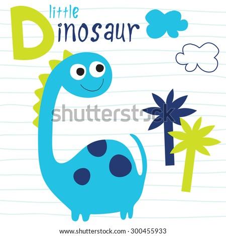 little dinosaur vector