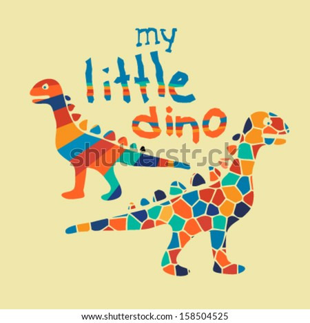 little dinosaurs slogan artwork