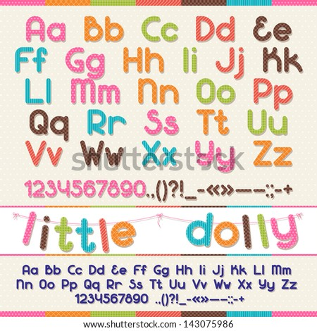 Little Dolly funny kid font