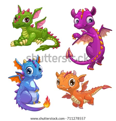 little dragons set funny