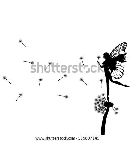 little fairy dancing on a