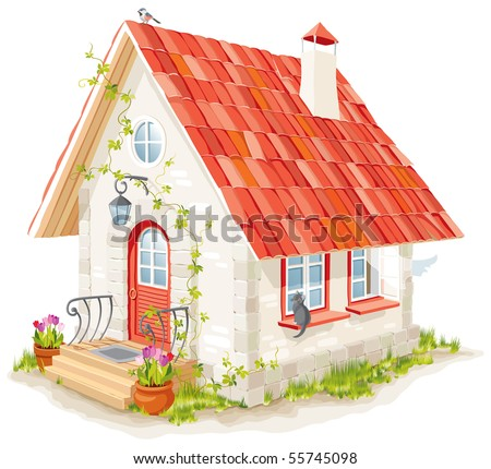 little fairy house with a tiled roof