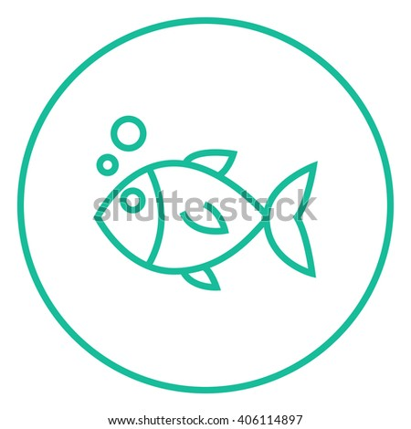 little fish under water line