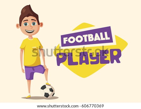 little football player cartoon