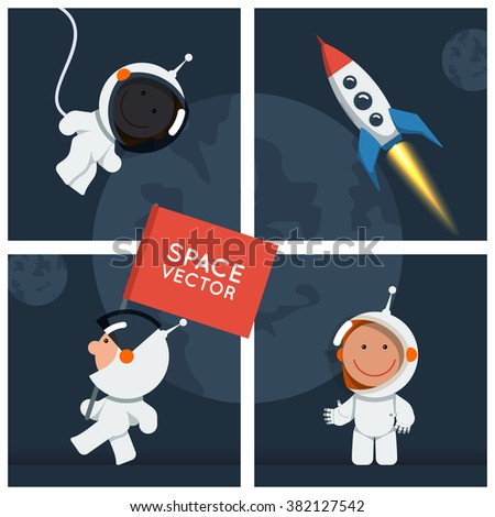 little funny astronaut in