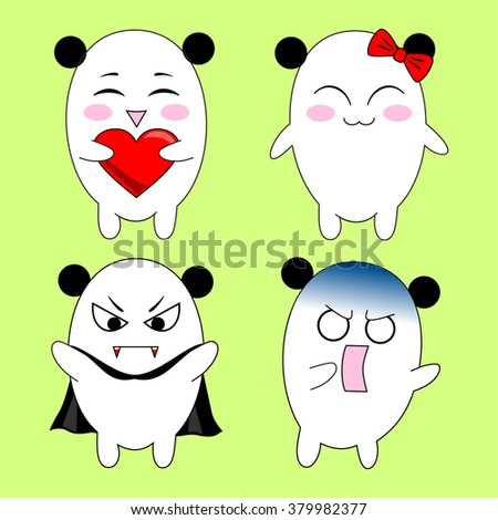 little funny bears in smiles