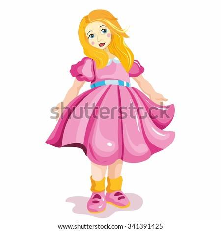 little girl  girl vector